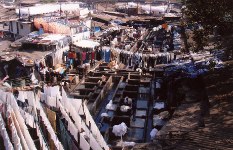 Dhobi-wallahs at work in Mumbai