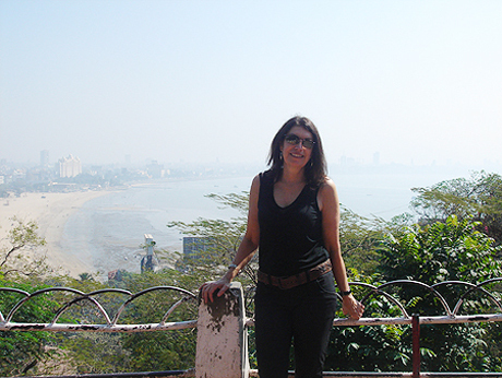 Overlooking Chowpatty Beach in Mumbai