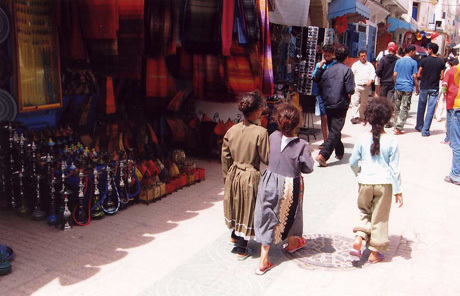 Beautiful children in Morocco's souks