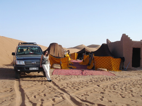 Our desert camp near the Algerian border