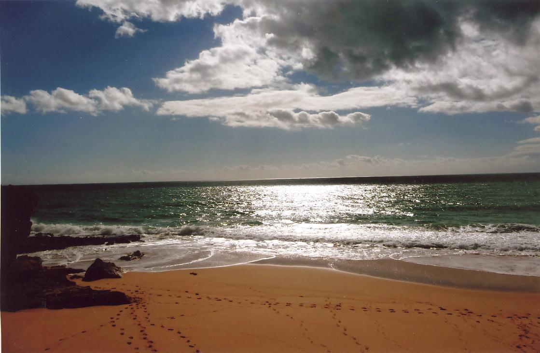 Calheta Beach on Porto Santo - Diamantina's home was at the end of the beach