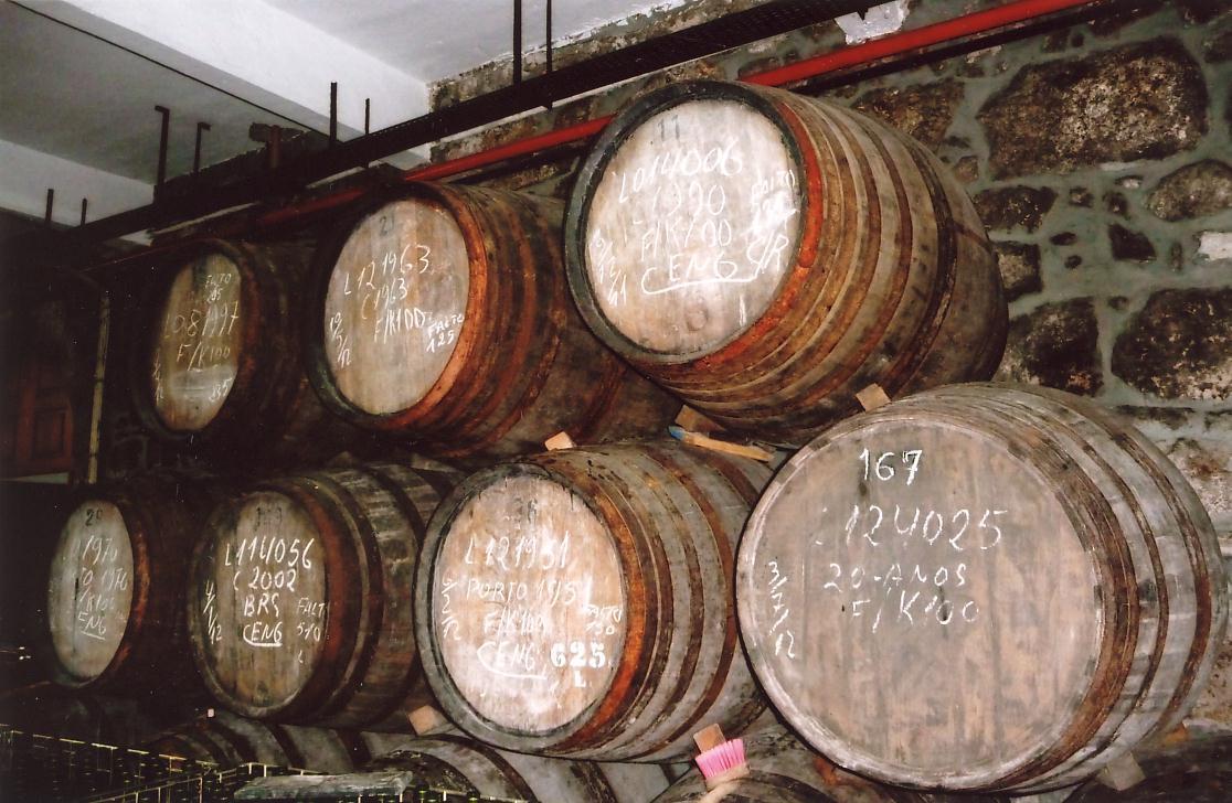 Wine cellar in the Gaia district of Porto