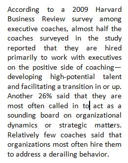 Reason for Executive Coaching - Fran Fisher