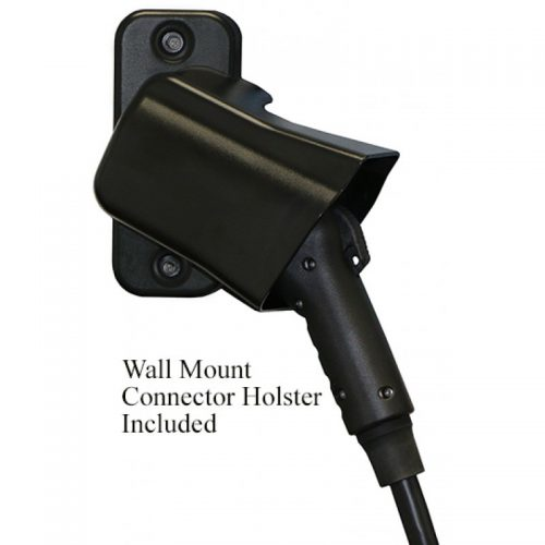 black holster with connector with text-800x800