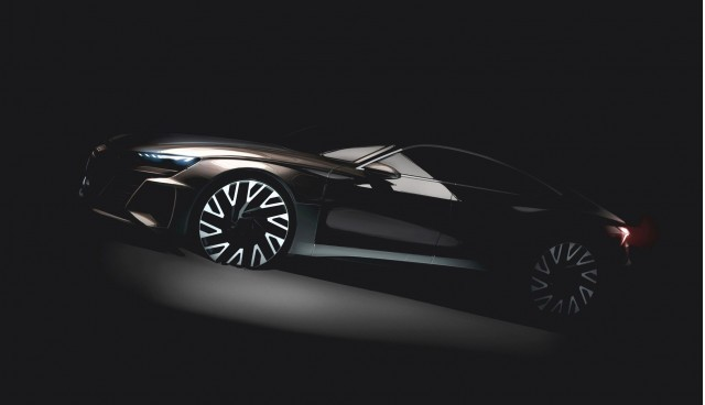 Teaser for Audi e-tron GT