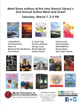 Irmo Branch Library March 7 flyer