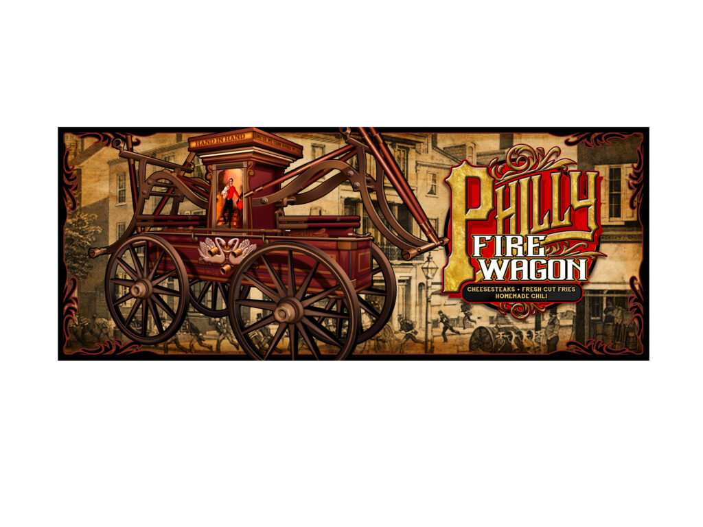 Philly Fire Wagon Food Truck Complete Side Illustration