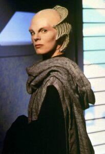 Mira as Delenn in Babylon 5 1st season
