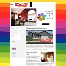 wyman painting omaha website development firm