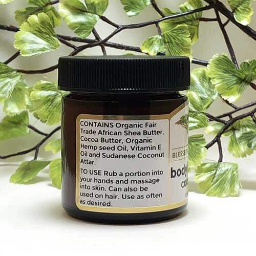 Blessed Botanicals Body Butter Coconut Ingredients