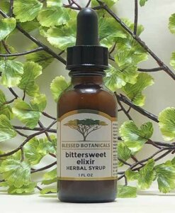 Blessed Botanicals Bittersweet Elixir Herbal Syrup 1 oz Bottle