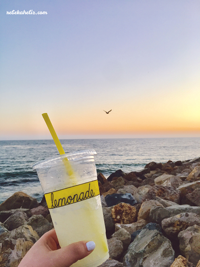 california, lemonade, Malibu, Pacific Ocean, ocean, travel, travel Tuesday, #rebekaheliztravel