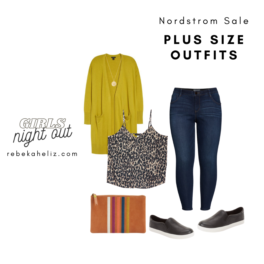 Nordstrom Sale, nsale, leopard camisole, plus size outfits
