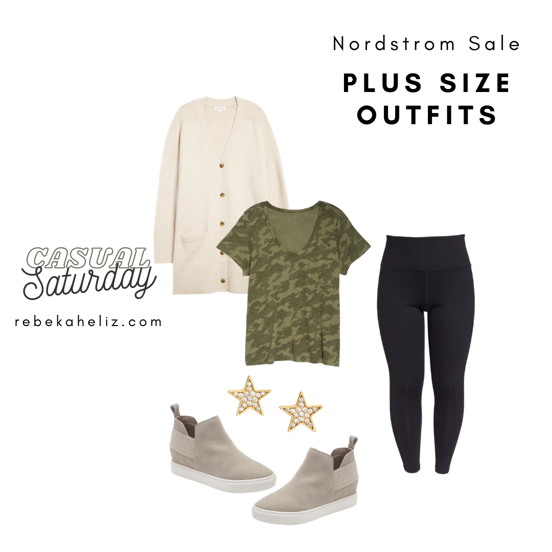 Nordstrom Sale, nsale, camo tee, plus size outfits