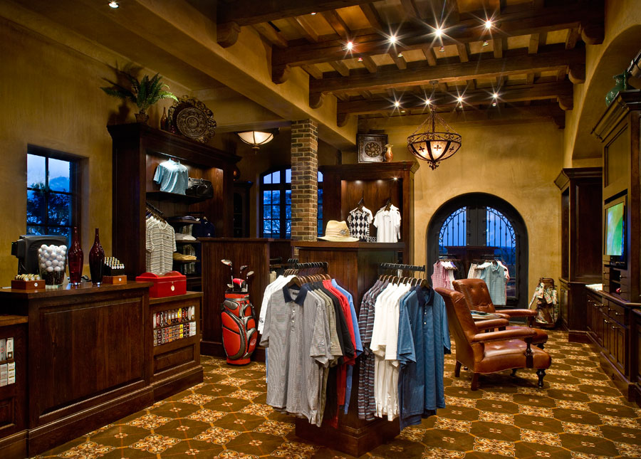 Golf club pro shop