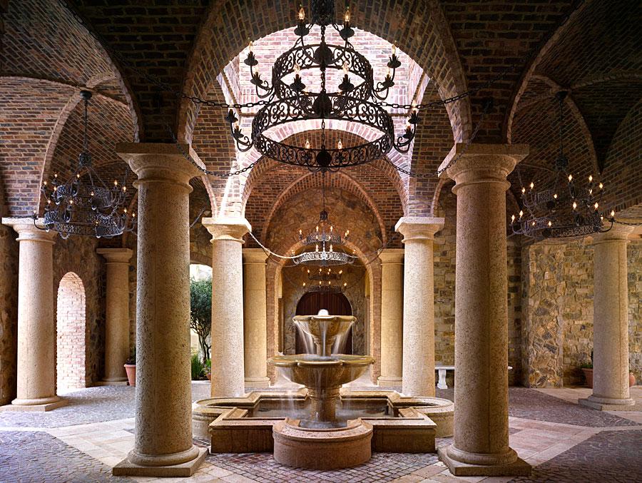 fountain with groin vaults
