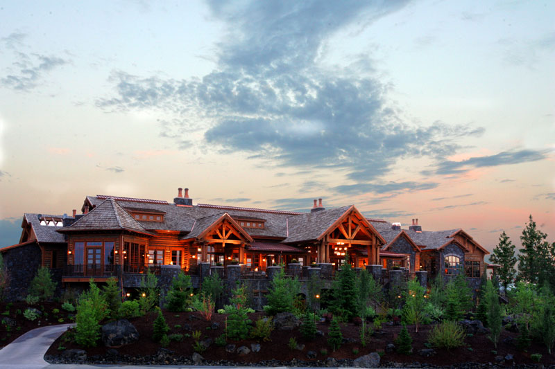 rustic mountain clubhouse