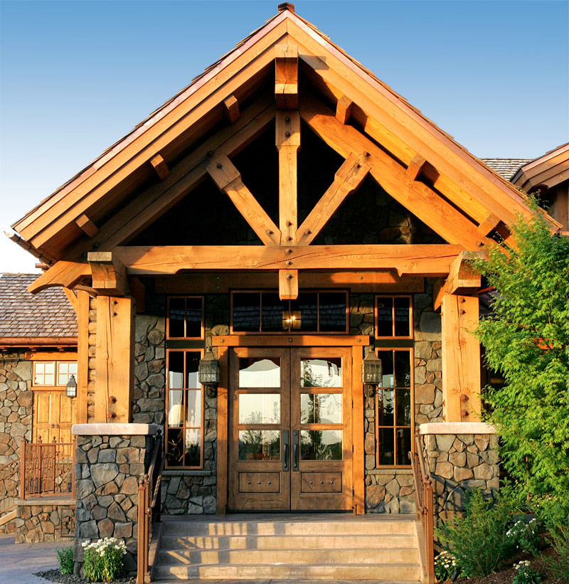 timber truss at clubhouse