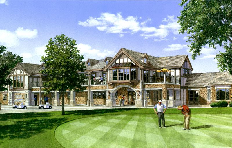 tudor architecture golf clubhouse