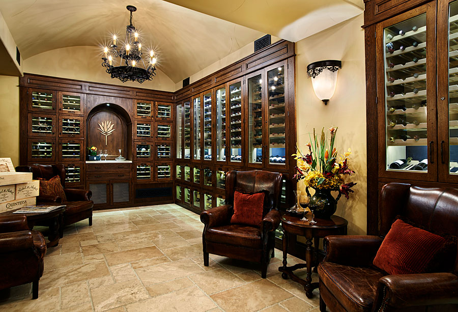 private golf clubhouse wine room