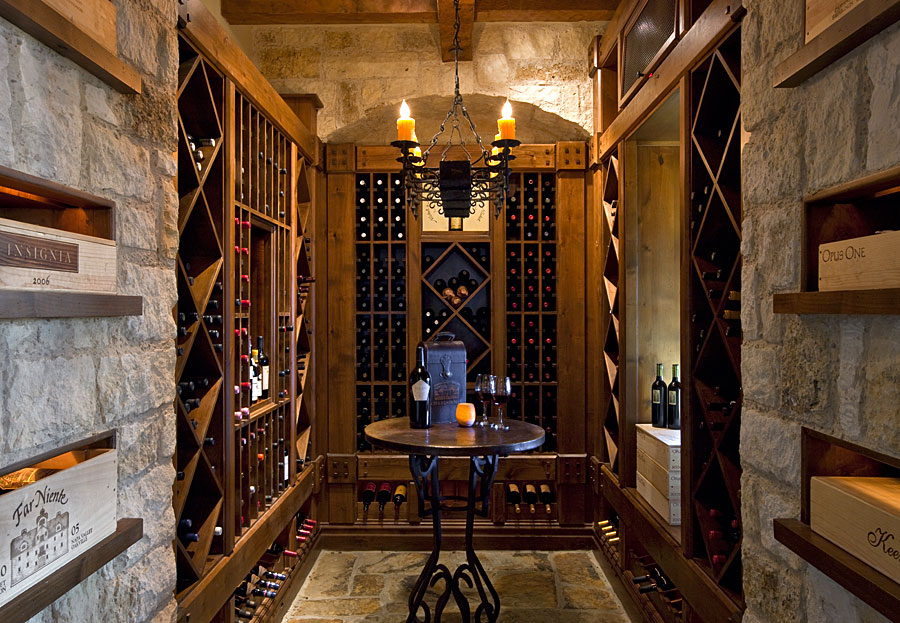 country club wine cellar interior design