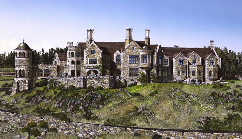 tudor castle golf clubhouse in china