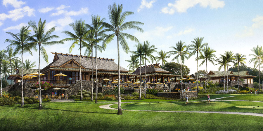 golf clubhouse in hawaii