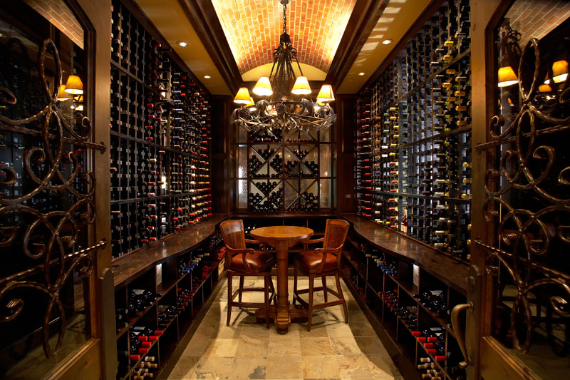 country club wine room interior design