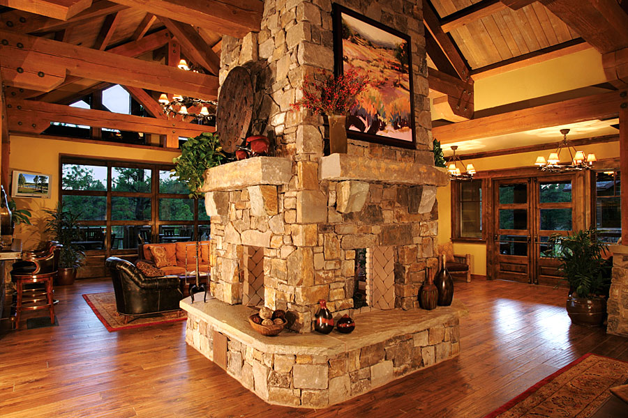clubhouse architecture fireplace