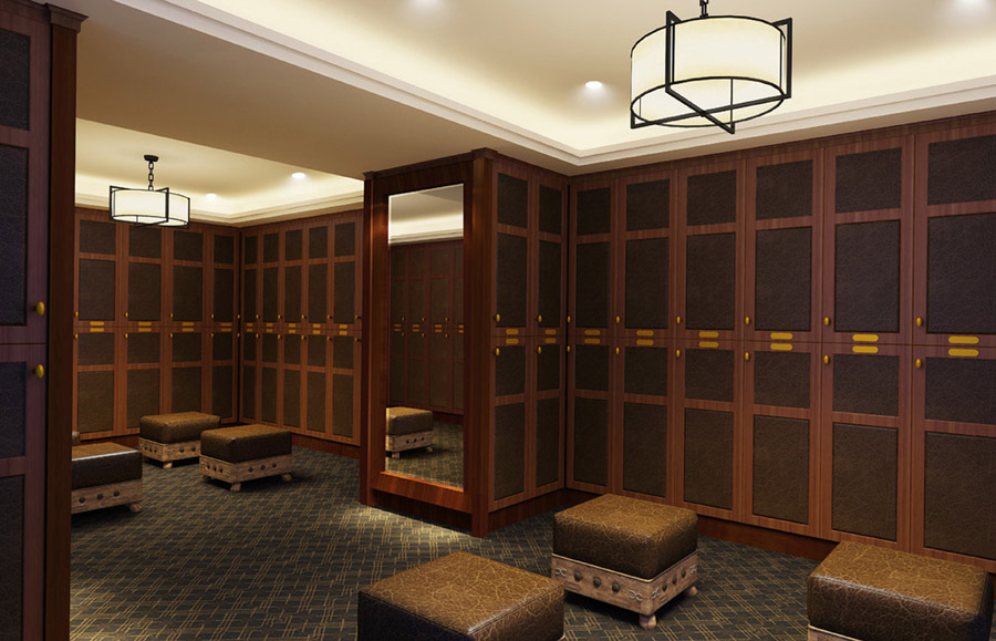 country club locker room interior design