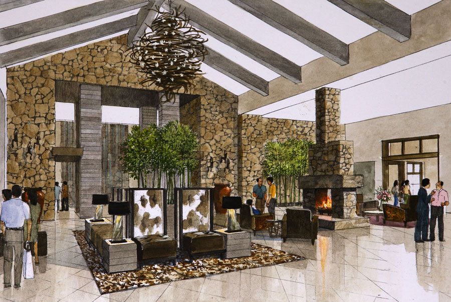 country club living room interior design