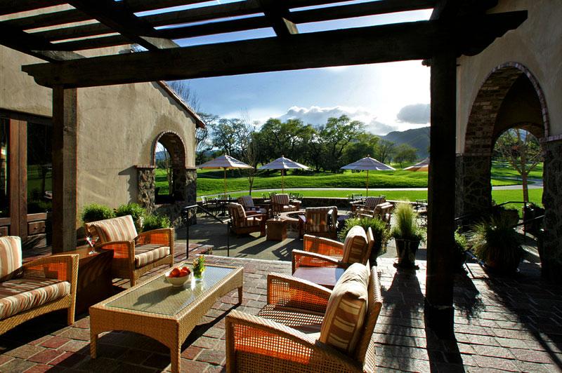 golf clubhouse shade pergola terrace