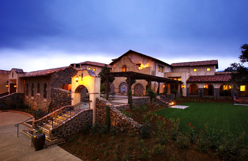 Spanish Mission architecture golf clubhouse