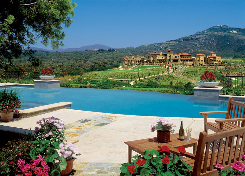 tuscan style hillside architecture