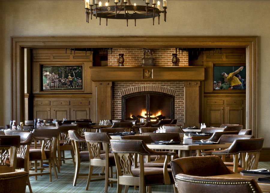 country club 19th hole bar dining interior design