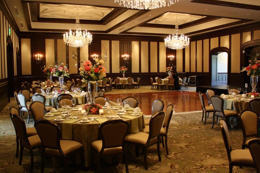 country club ballroom dining interior design