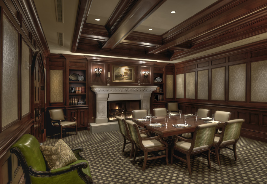 country club board room interior design