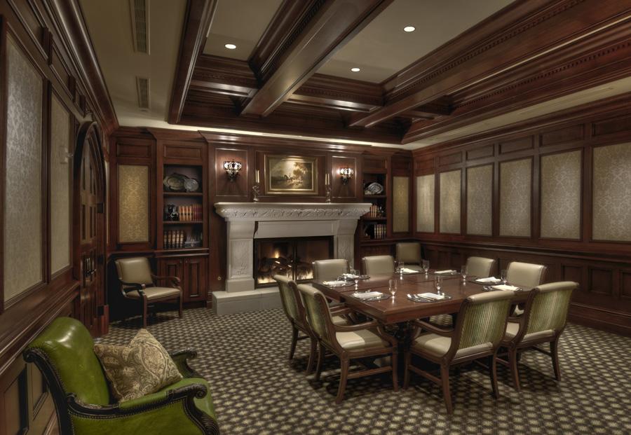 country club board room interior design