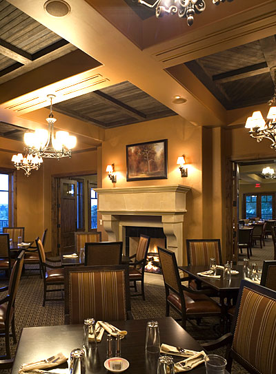 country club mixed grill dining interior design