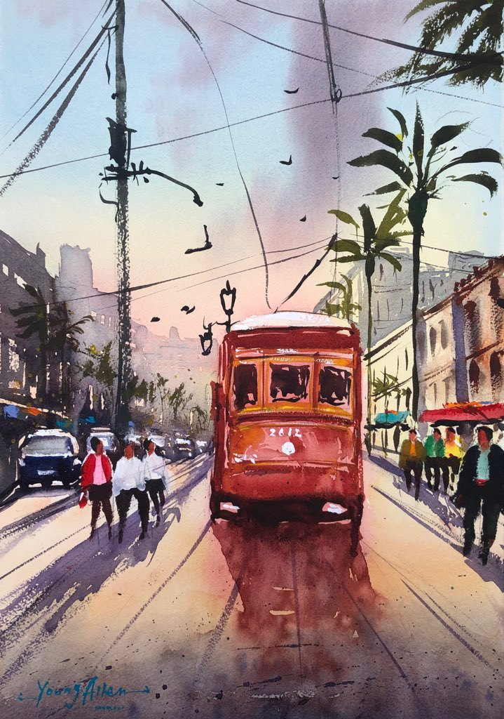 ALLEN-Young-Street-Car-on-Canal-20x14
