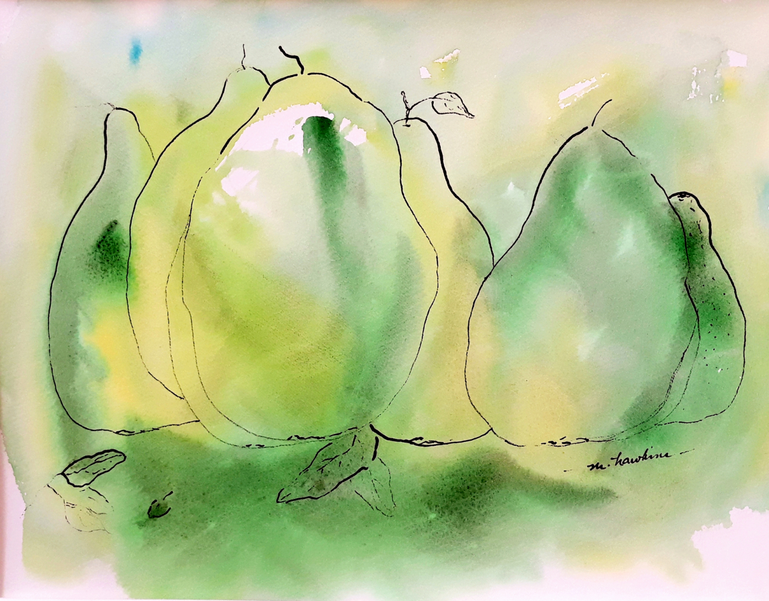 Margaret Hawkins, California Pears
