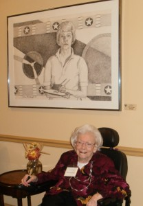 Claire Rohrbough, age 100, with self portrait