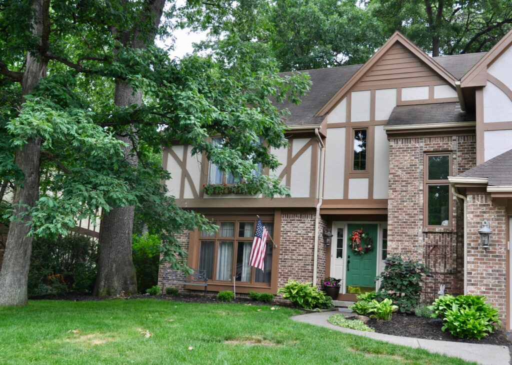 Update the exterior of your home with fresh mulch