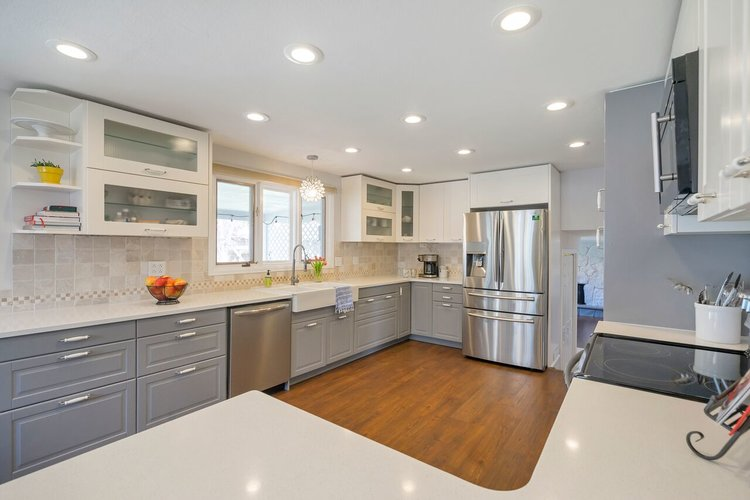 Kitchen that is staged to sell