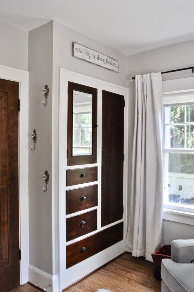 Built-in's in 1920s colonial home