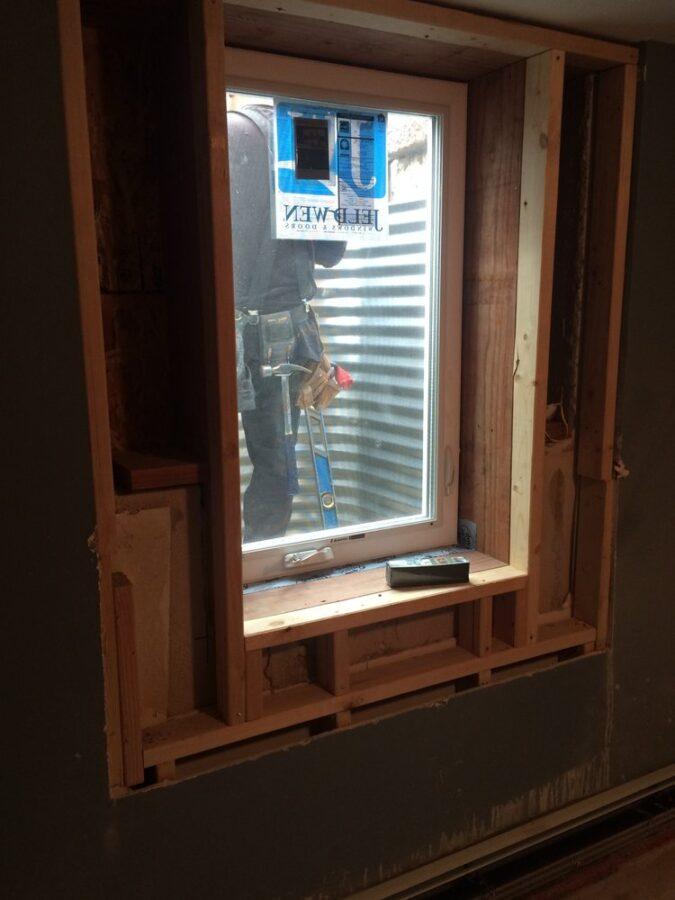 Egress window installation