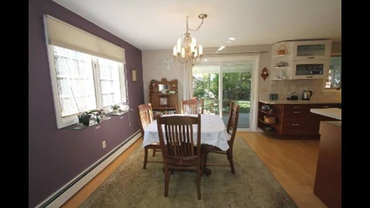 Large kitchen with access to the backyard