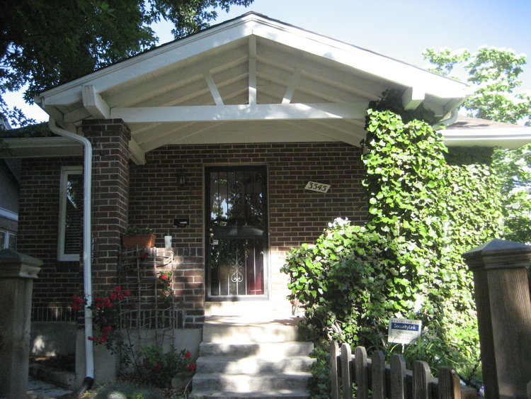 Our brick bungalow that we called home in Denver
