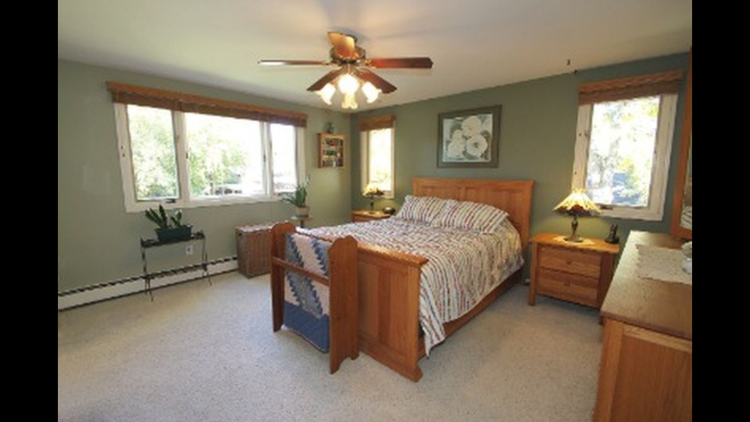 Original master bedroom at our third flip house