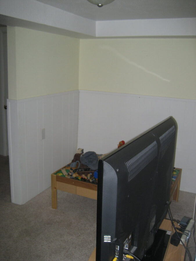 The basement nook where we planned on adding an office